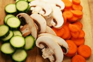 Geschnittenes Gemüse ist lecker